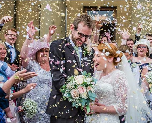 An image of a wedding at Rise Hall